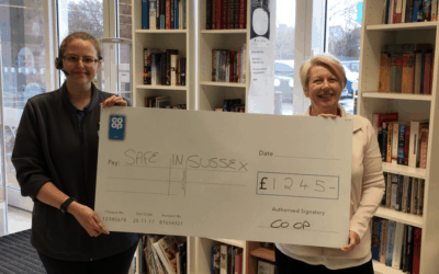 Safe in Sussex benefits from kind donations from the people and customers of the Selsey Co-op