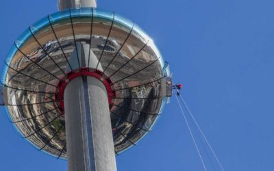 The Awesome Droppers plunge from the Brighton i360 delayed again..