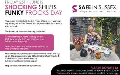 Our annual Shocking Shirts & Funky Frocks is back in June
